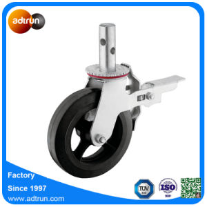 Heavy Duty 8 Inch Scaffold Caster Wheels with Total Lock Brake, Roller Bearing pictures & photos