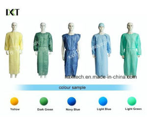 Disposable Non Wowen Long Sleeve Doctor Gown pictures & photos