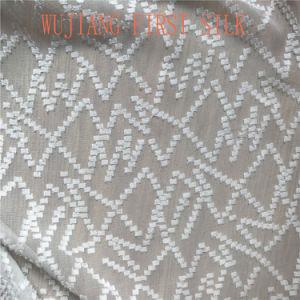 Silk Cotton Clip Woven Fabric pictures & photos