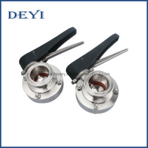 SS304/316L Stainless Steel Sanitary Butterfly Valve (DY-BV1007) pictures & photos