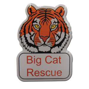 Metal Printing Tiger Logo Lapel Pin Badge with Epoxy pictures & photos