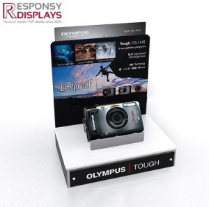 High Quality Counter Acrylic Camera Display Stand with LCD Video Player pictures & photos