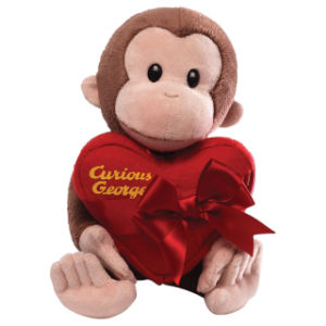 Brown Plush Valentine Monkey Toy with Gifts pictures & photos