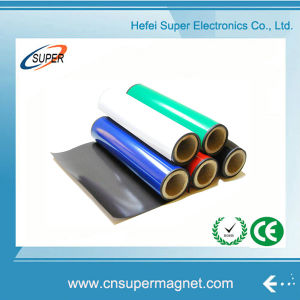Flexible 30000*610*0.4mm Soft Colorful PVC Adhesive Rubber Magnet Roll pictures & photos