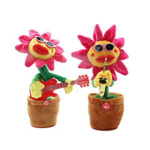 Singing and Dancing Sunflower Soft Plush Doll Electric LED Toys with Light Music pictures & photos