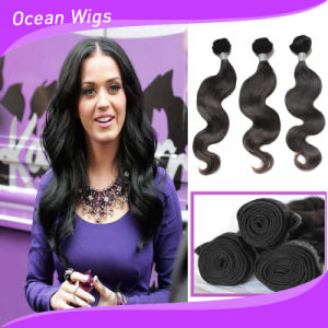 Wholesale Cheap Body Wave Natural Raw Indian Human Hair Extension pictures & photos