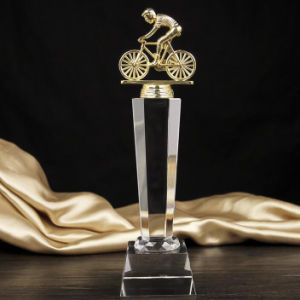 Bicycle Crystal Glass Trophy Award for Sports Souvenir pictures & photos