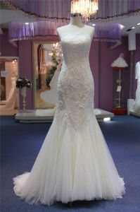 Scoop Lace Mermaid Prom Evening Bridal Wedding Gown pictures & photos