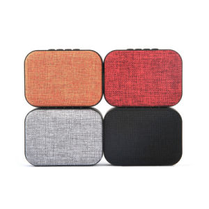 3W Super Bass Portable Audio Player Fabric Wireless Bluetooth Speakers pictures & photos