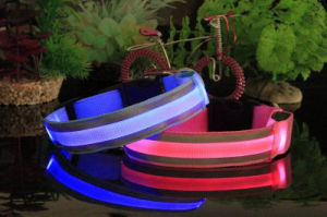 Promotional Gift LED Luminous Nylon Pet Collar pictures & photos