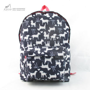 Kid′s Nylon Dog Pattern Back to School Backpack pictures & photos
