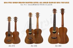 Koa Pili Koko Brand 24 Inch Solid Koa Concert Hawaii Ukulele pictures & photos