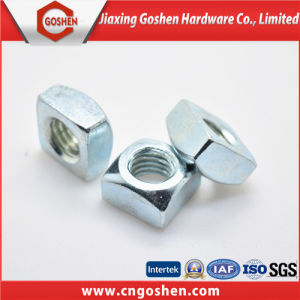 blue Galvanized Carbon Steel Square Nut QC310 pictures & photos
