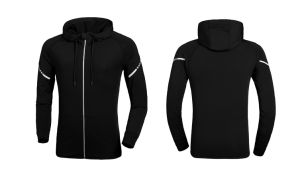 Dry-Fit Mens Fitness Hoodies Jacket with Reflective Logo pictures & photos