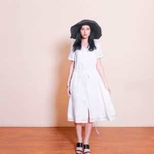 White High Quality Tencel Summer Dress