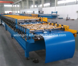 Double Layer Galvanized Steel Cold Rolled Forming Machine pictures & photos