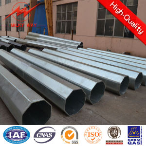 Multi Side 27.5m 15kn Galvanized Steel Pole pictures & photos