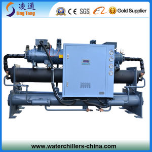 Large Cooling Capacity Cooling Equipment Double Compressor Screw Chiller pictures & photos