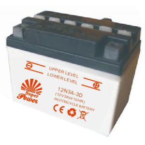 Motorcycle Battery 12n3a-3D White Colour with CE UL Certificate pictures & photos