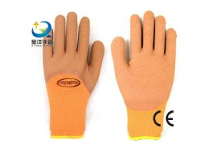 Terry Napping Lining Latex 3/4 Foam Coated Work Gloves pictures & photos