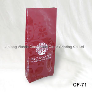 Custom Printed Quad Sealed Plasctic Packaging One Way Valve Coffee Bag pictures & photos