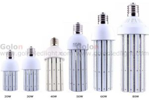 E40 LED Bulb 60W, E27/E26/E39, 6600lm, 100-300VAC, 24V DC 3 Years Warranty 60W E40 LED Corn Bulb pictures & photos