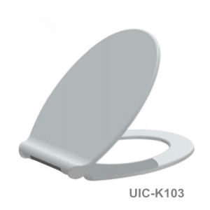 Duroplast Toilet Seat with Soft Close Stainless Steel Hinge and Push Button Quick Release pictures & photos