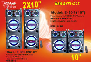 Double 10 Inch Strong Power Stage Professional Speaker for DJ E330 pictures & photos