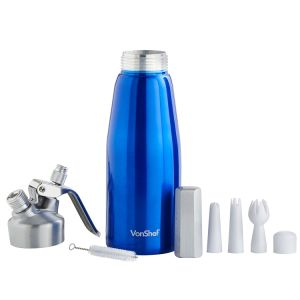 0.5 Liter Whipped Cream Dispenser with 3 Extra Nozzles and Cleaning Brush pictures & photos
