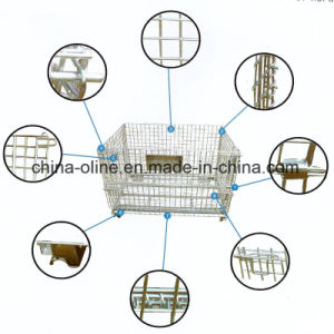 Folded Storage Wire Mesh Container (1200*1000*890) pictures & photos