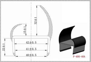 Co-Extruded PVC Lorry Door Seals Strip P-400-40A