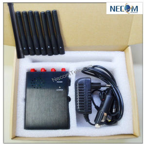 Cell phone signal blocker jammer for sale , 8 Antennas Portable WiFi Cellphone GPS Remote Control Jammer/Blocker
