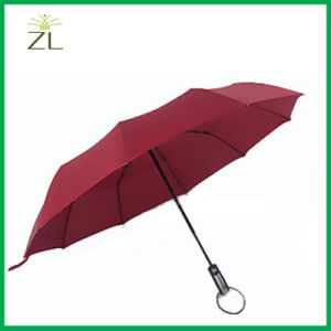 OEM Custom Logo Promotional Automatic Rain 3 Folding Umbrella pictures & photos