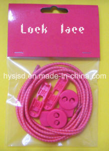 2014 Hot Sale Colorful Reflective Pure Striped Color Elastic Cord Lock No Tie Laces with Stopper pictures & photos