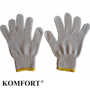 Natural Color T/C String Work Labor Knitted Glove China Manufacture (JMC-430C) pictures & photos