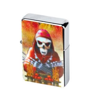 Skull Chrome PVC Emblem Gift Oil Lighter