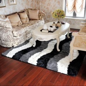 Shaggy Carpet Living Room Polyester Silk Shaggy Carpet Rug pictures & photos