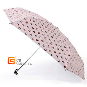 Portable Little Cat Printing 5 Folding Umbrella (YS5F009B) pictures & photos