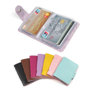 24 Bits PU Leather Business Credit Card Holder