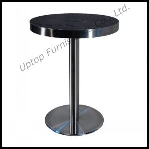 Dia 60cm Black HPL Laminate Round Cafe Table (SP-RT193) pictures & photos