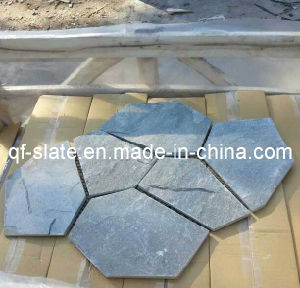 Natural Silver Gray/Grey Slate Irregular Flooring Stone Tiles for Garden