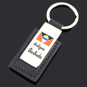 Branded PU Leather Keychain with Printing Logo pictures & photos