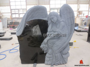 Angel Carved Absolute Black Granite Monument pictures & photos