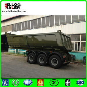 China U Shape Tri-Alxe Rear Tipper Trailer for Sale pictures & photos