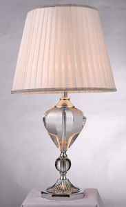 Phine 90138 Clear Crystal Table Lamp with Fabric Shade pictures & photos