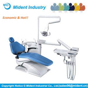 Economic Dental Unit Chair with Ceramic Cuspidor pictures & photos