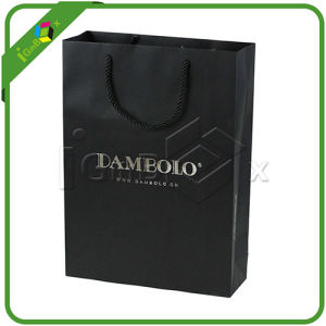 Custom Printed Black Matt Paper Bags pictures & photos