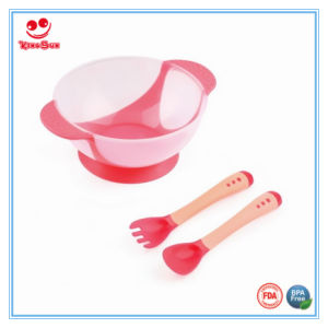 Best Cutlery Set Baby Suction Bowl with Sensor Spoon pictures & photos