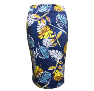 Factory New Design High Quality Slim Bust Spring Printing Middle Skirt pictures & photos