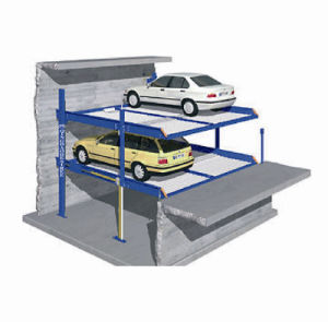 Two Post Garage Equipment Car Auto Parks Parking in Pit pictures & photos